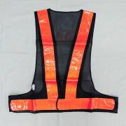安全反射ベスト ネイビーxオレンジ